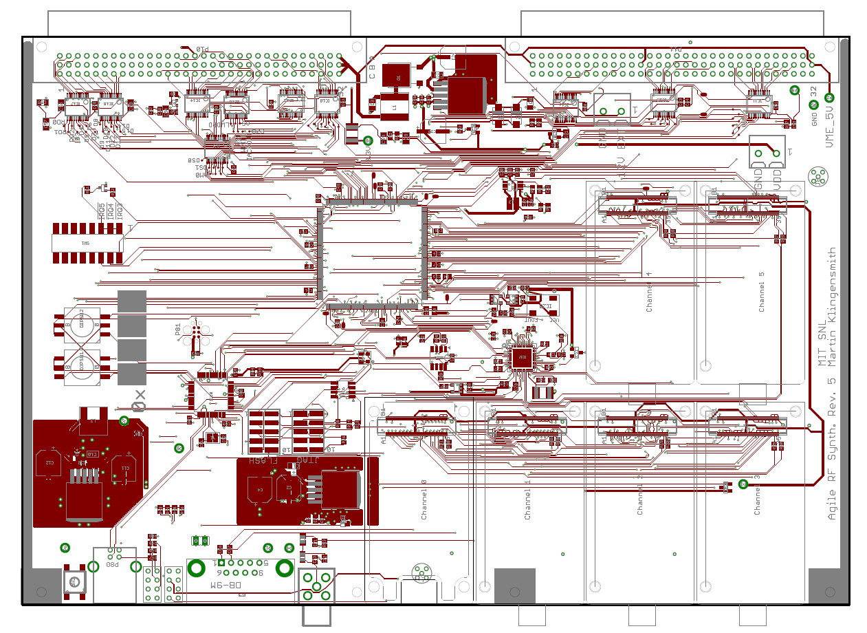 VME board designed in Eagle 6.